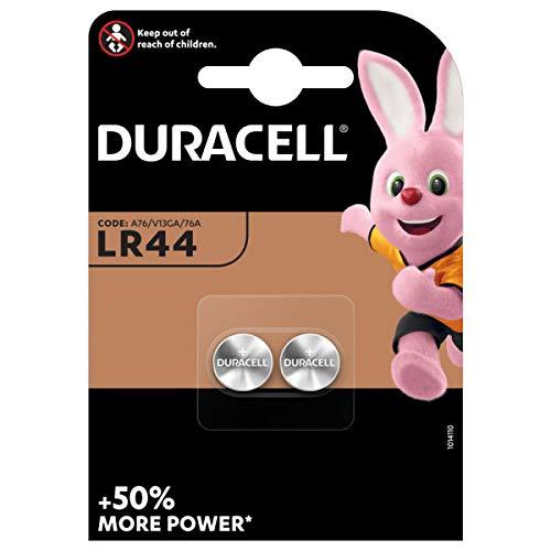 Duracell - Pilas especiales alcalinas de botón LR44 de 1.5 V, paquete...