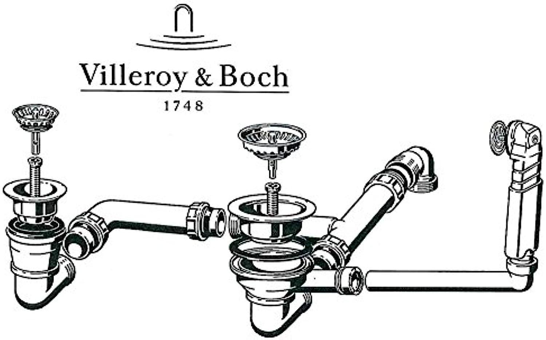 Villeroy & Boch Ab- und überlaufgarnitur für Spüle CISTERNA 6702 mit Handbedienung Ersatzteil Ventil