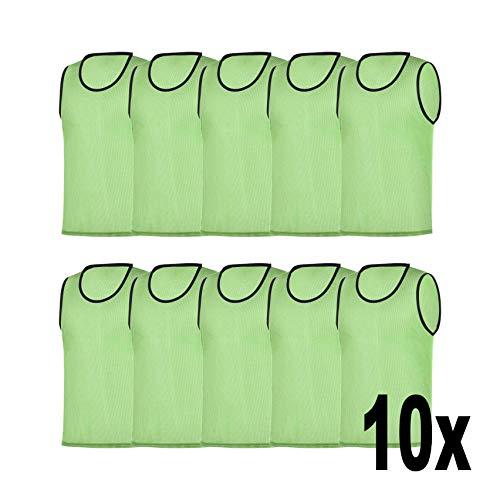 RHINOS sports Trainingsleibchen 10er-Set, Größe:XL, Farbe:grün