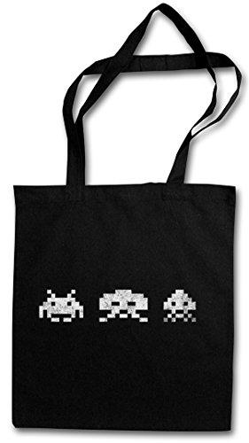 Urban Backwoods Digital Invaders Hipster Bag – Jeu Arcade Game Retro Nerd...