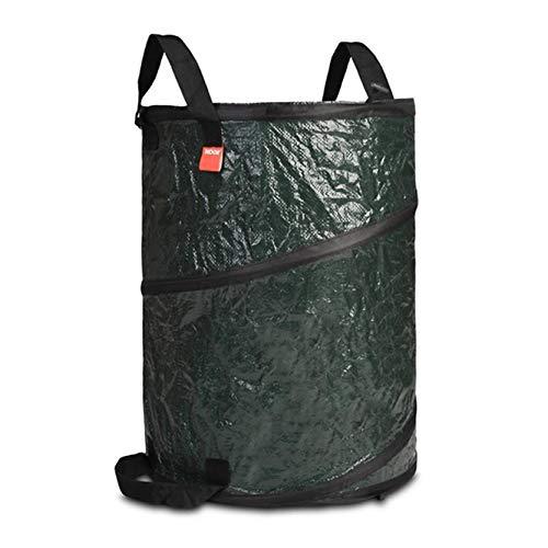 NOOR Pop-Up Sack 160L in dunkelgrün I Gartenabfallsack selbststehend I Faltbarer Laubsack in groß I Gartensack für Schrebergärten, zum Ernten, Lagern und Transportieren von Gartenabfällen
