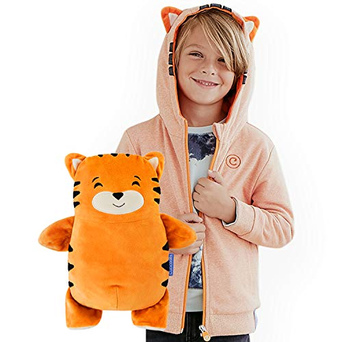 Cubcoats Tomo The Tiger - 2-in-1 Transforming Classic Zip-Up & Soft Plushie - Orange