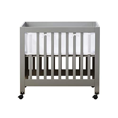 BreathableBaby Classic Baby Mesh Mini Crib Liner, Safer for Baby, Anti-Bumper, White