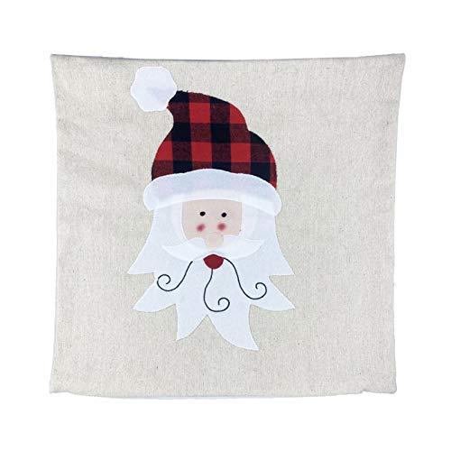 Capas de almofada de natal,Capas de almofada de Natal Fronha de sofá decorativo de Natal Travesseiro de linho Capa de almofada quadrada Festa de feriado Fronha com zíper para sofá-cama e carro