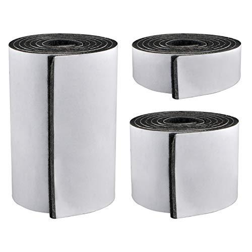 Morobor 3 x Adsive Möbel-Filzgleiter, zuschneidbare Filz-Stuhl-Pads, selbstklebende Möbel-Pads, Bodenschoner-Pads für Tischbeine, Stühle, grau, kombiniert