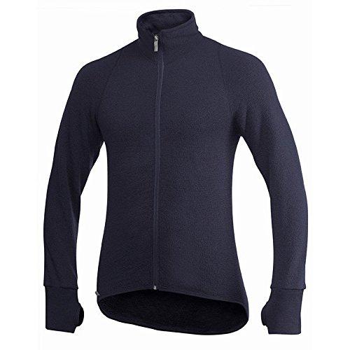 Woolpower Veste thermique 400 g Unisexe – Veste en laine mérinos (M), bleu marine, M