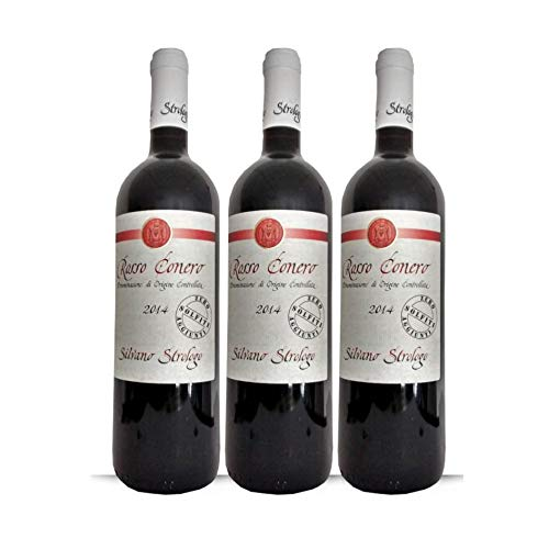 3x Vino Rosso Conero doc Zero Solfiti, bottiglia 0,75 l. Cantina Strologo, Camerano, Ancona, Marche, Italy, prodotto tipico marchigiano