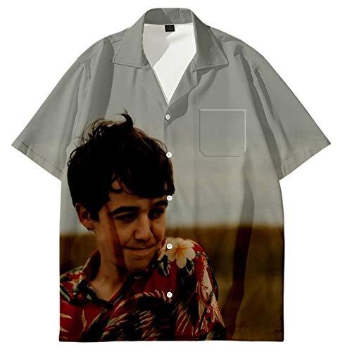 Ghgfjkjhhl The End of The Fucking World Camiseta Cómoda Camisa Floja Ocio Personalizar Color 3D Blusas impresión de la Manera con botón Unisex (Color : A07, Size : Height-160cm(Tag S))