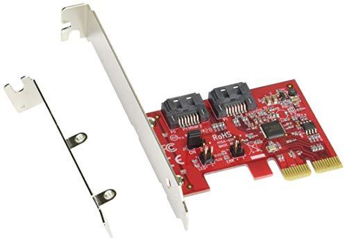 玄人志向 ASMedia社製 ASM1062R搭載 内蔵SATA III 2ポート増設インターフェースボード(スリムタワーケース対応) SATA3-HWR-I2-PCIE