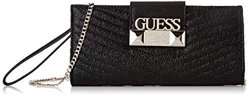 Guess - Jazzie, Bolso mano Mujer, Negro Black, 4.5x12x26