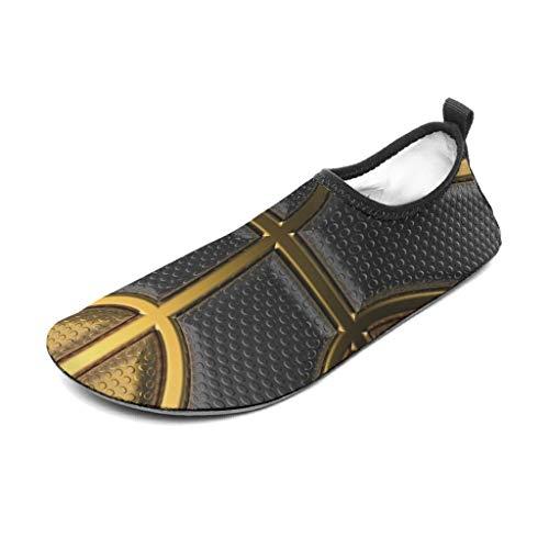 Tentenentent Unisex Fooball Textur Gummischuhe - Sportliebhaber Aquaschuhe descalzo Strandpool-Surf-Yoga White6 36/37