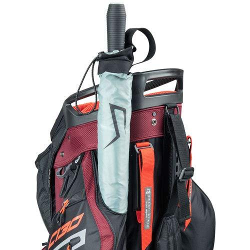 Product Image 4: Sun Mountain C-130 Cart Bag Golf Black/Garnet/Gunmetal/Inferno 2020 New
