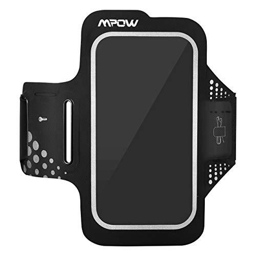 Mpow Fascia Sportiva da Braccio Sweatproof Bracciale per Corsa & Esercizi con Supporto Chiave e Riflettente Armband per iPhone7/6s/6, Samsung...