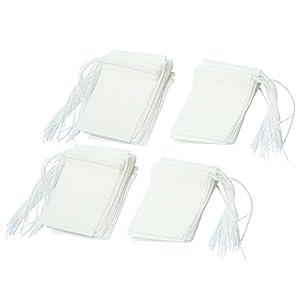 AOLVO Blanco 6.4 * 6CM Paquete de 100 Bolsas Desechables para Filtro de t/é infusor de t/é con cord/ón vac/ío Bolsa de t/é para t/é y caf/é