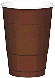 Chocolate Brown Plastic Cups | 16 oz. | Pack of 20 | Party Supply