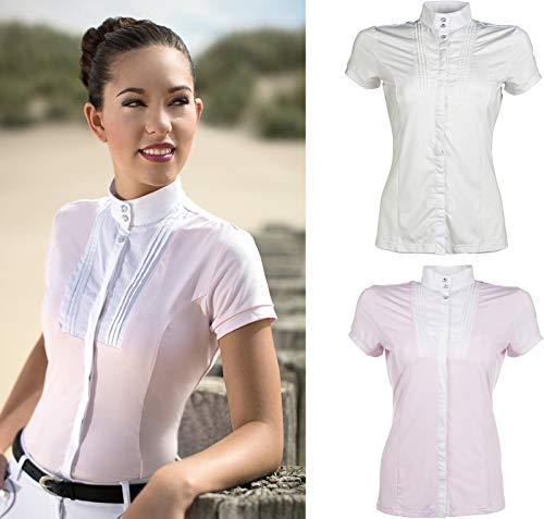 HKM Damen Turniershirt-Soft Powder Bluse, Milky pink, S