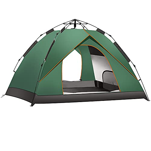 MiniRoom テント ワンタッチテント 2-4人用 防風防雨 UVカット加工 設営簡単 キャンプテント 携帯便利 軽量 耐水 収納ケース付 ポップアップテント キャンプ 海 花見 運動会 登山用