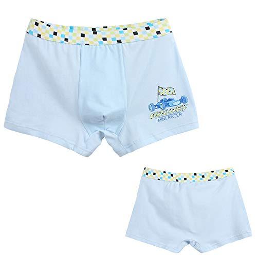 SBL SBL Kinder Jungen Baumwolle Baumwolle Komfortable Breathable Unterwäsche - Zhongda Tong Unterwäsche Höschen,Hellblau,130cm