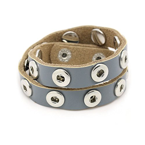 Sexy Sparkles Starter Interchangeable Snap Leather Bracelet and Chunk Charms Noosa Style