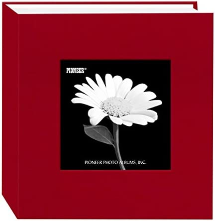Pioneer 100 Pocket Fabric Frame Cover Photo Album Apple Red product image