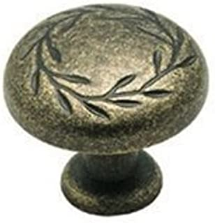 Weathered Brass Leaf Cabinet Knob Pulls BP1581-R2 Amerock's Inspirations Collection - 10 Pack by Amerock