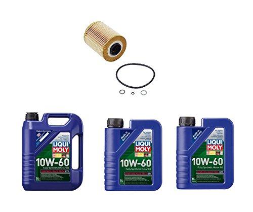 Set of 1 Engine Oil Filter 11427833769 + 7 Liters Engine Oil Liqui Moly 2024 (1) 2068 (2) for BMW E36 E46 M3 Z3 Z4