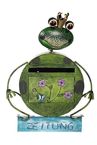 Birendy Antiker Briefkasten, Tierdesign Frosch, NA13A332 Handbemalt.