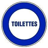 BCTS Toilettes diámetro ̈ ̈tre Street - Señal de advertencia cuadrada de metal, 30,5 x 30,5 cm