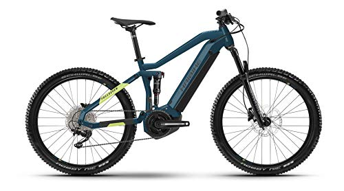 Winora Haibike FullSeven 5 Yamaha Elektro Bike 2021 (L/48cm, Blue/Canary)
