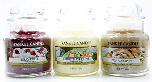 Yankee Candle - Set di 3 candele in mini giare di vetro, misura piccola