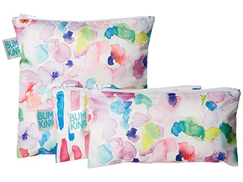Bumkins Reusable Sandwich and Snack Bag Set Pink One Size