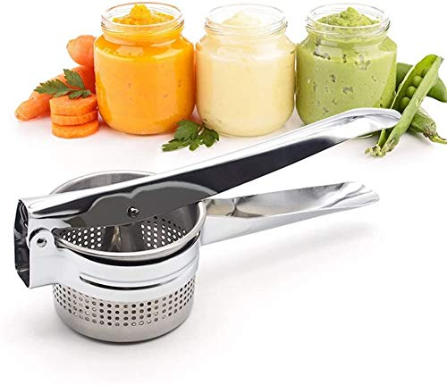 CICIMOTO Stainless Steel Potato Ricer and Masher,Vegetable Ricer and Fruit Ricer, Great for Purees, Fruit Juicer, Baby Food Press Squeezer