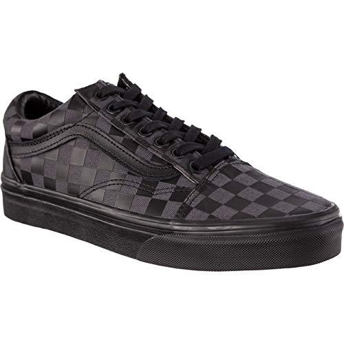 Vans Chaussures de Sport pour Hommes Old Skool Classic en Cuir Noir VN0A38G1U5B