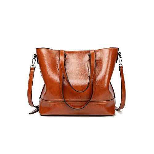 NIYUTA Damenhandtaschen mode große Schultertaschen weich leder Shopper Umhängetaschen
