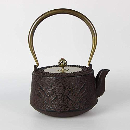 DZNOY Ollas de té Tetas de té Esmalte de Esmalte hervidor Fundido Hierro Viejo pote Hecho a Mano sin Recubrimiento Hierro Fundido Tetera Tetera