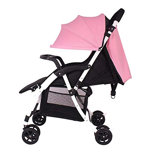 Baby Stroller Carrito de bebé Ligero Plegable Puede