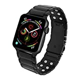 MagnetRX Magnetic Therapy Apple Watch Band - 316L Stainless Steel Ultra Strength Magnet Therapy Watch Band Compatible for Apple Watch Series 6/5/4/3/SE (Black, 42mm/44mm)