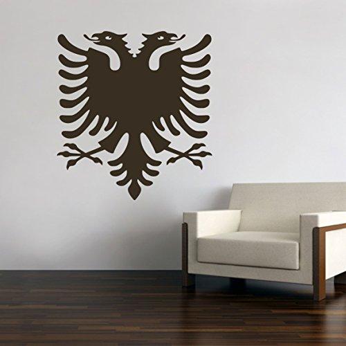 Albanien Albania Albanischer Adler Wandtattoo Wandsticker Aufkleber Sticker Neu (Schwarz, 40 cm)
