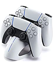 FUNLAB Charger Station for PS5 Controller,Fast Charging Dock with Dual Playstation 5 Dual Sense Controllers Stand and LED Indicators