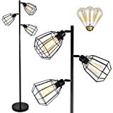 LEONLITE Industrial 3 Light Tree Floor Lamp, UL...