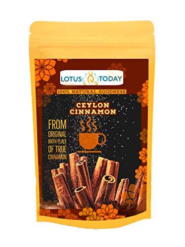 Lotus Today Organic Cinnamon Tea Original Ceylon Cinnamon for Best Cinnamon Taste,Mood & Immune Boost 20 Herbal Tea Bags