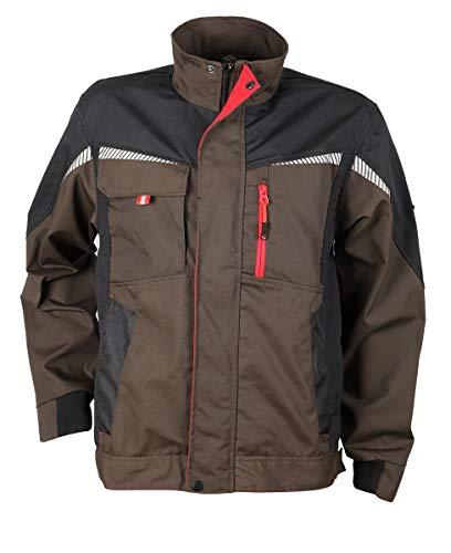 Prisma® - Herren Multifunktionale Arbeitsjacke Bundjacke - reflektierende Streifen - Enge Passform - Braun 58