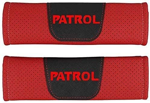 2Pcs Coche Almohadillas Cinturón Seguridad para Nissan Patrol, Hombro Correa Cojín Cuello Protector Interior Accesorios
