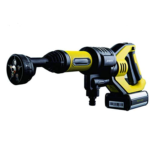 Lexy Jimmy JW31 - Limpiador de Alta presión para neumáticos de Coche, Pistola de Lavado de Mano inalámbrica, Herramientas de Limpieza 2.2MPa, presión de Agua 180L/h, Flujo de Agua # ZINNZ Selected #