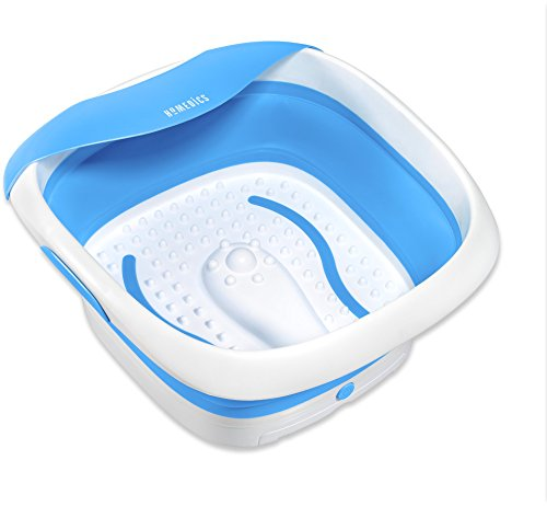 HoMedics Compact Pro Spa Collapsible Footbath with Heat | Vibration Massage, Acu-Node Surface, Heat Maintenance | Improves Circulation, Soothe Tired Muscles, Collapsible Tub for Easy Storage
