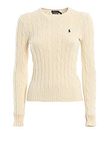 Polo Ralph Lauren V39IE169CE149 Felpa, Beige (Cream 1058), L Donna