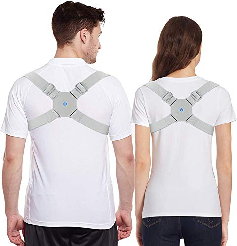 Posture Corrector back Brace Support For Women & Men, Kids, Teens, Adult - WELTOP Smart Rechargeable Vibrating Posture Straightener For Back, Shoulder, Neck, Slouching & Hunching, Pain Relief (Type A)
