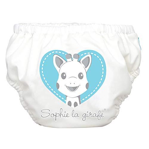 Charlie Banana Sophie La Girafe - Pannolino da Nuoto 2 in 1, Riutilizzabile, per Bambini e Ragazze, Taglia M, Blu