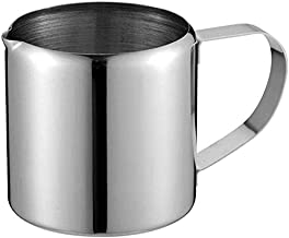 EOPFD Milk Jug, Home Milk Jug Dining with Handle Kitchen Sugar Catering Use Polished Cream Coffee Latte Stainless Steel Jar Accessories @ 4_Oz