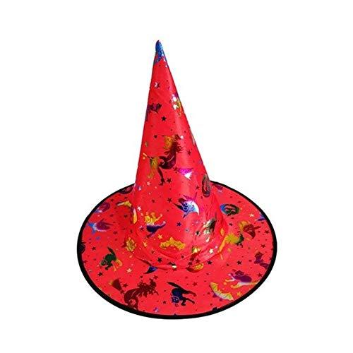 DUO ER Sombrero de Materiales caseros más Amplia fiable for Mujer Adulto Bruja Negro Sombrero for Halloween Fiesta de Halloween del Traje de Accesorios (Color : Style D)